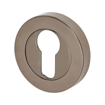 Excel Escutcheon - Euro - Black Nickel
