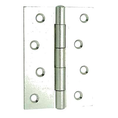 Steel Hinge - 100 x 67mm - Bright Zinc Plated - Pair