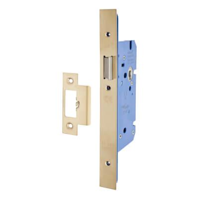 A-Spec Architectural DIN Latch - 85mm Case - 60mm Backset - PVD Brass