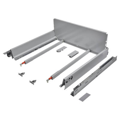 Blum TANDEMBOX ANTARO Pan Drawer - BLUMOTION Soft Close - (H) 203mm x (D) 500mm x (W) 600mm - Grey