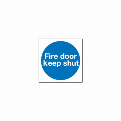 Fire Door Keep Shut - 100 x 100mm - Rigid Plastic - Pack 10
