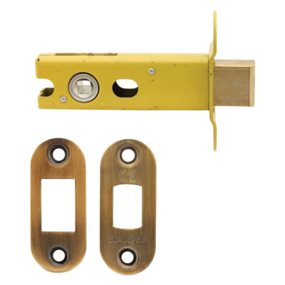 Altro 8mm Tubular Bathroom Deadbolt - 76mm Case - 57mm Backset - Radius - Florentine Bronze