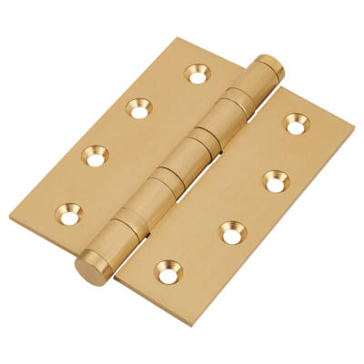 Performance Ball Bearing Hinge - 100 x 75 x 3mm - Satin Brass)