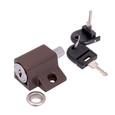Push Type Window Lock - Keyed Alike Differ 1 - Brown