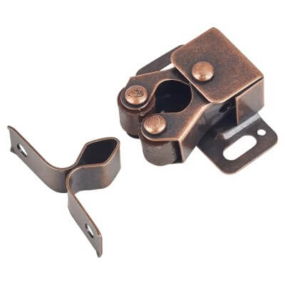 Double Roller Catch - 25mm - Bronze Plated