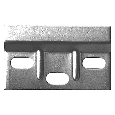 Touchpoint Ribbed Wall Plate - 63.5 x 38mm - Zinc Plated Steel - Pack 10