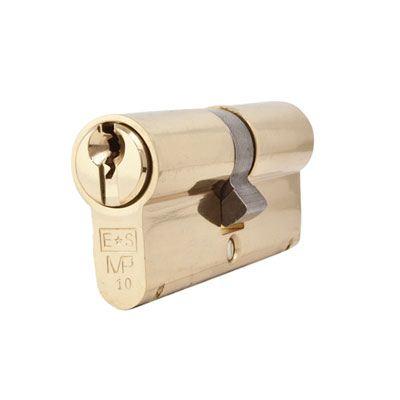 Eurospec MP10 - Euro Double Cylinder - 35 + 35mm - Polished Brass  - Keyed Alike