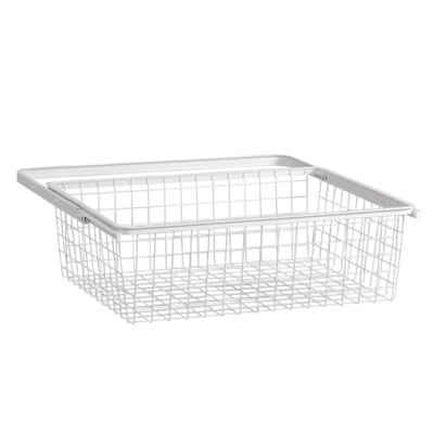 elfa® Basket and Frame - 610 x 440 x 185mm - White)