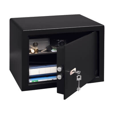 Burg Wächter P 3 S PointSafe Key Operated Safe - 320 x 442 x 350mm - Black)