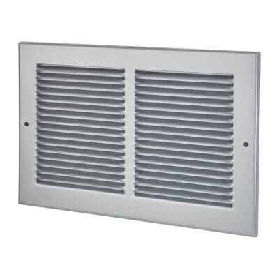 Vent Cover Grille - 300 x 195mm to suit transfer vent 250 x 150mm - Silver)