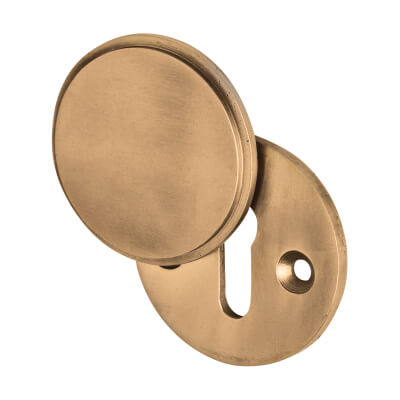 Louis Fraser Covered Escutcheon - Keyhole - Light Bronze