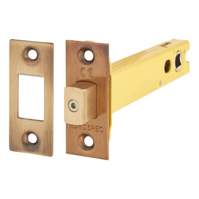 Altro 8mm Tubular Bathroom Deadbolt - 127mm Case - 108mm Backset - Square - Florentine Bronze