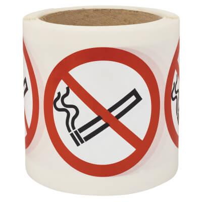 Self Adhesive Vinyl Labels - No Smoking)