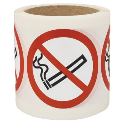 Self Adhesive Vinyl Labels - No Smoking)