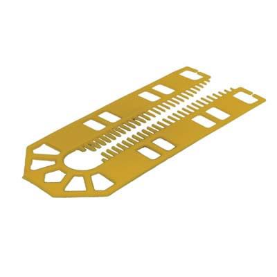 Horseshoe Packer - 101 x 43 x 1mm - Yellow - Pack 200