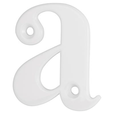76mm Letter - A - White