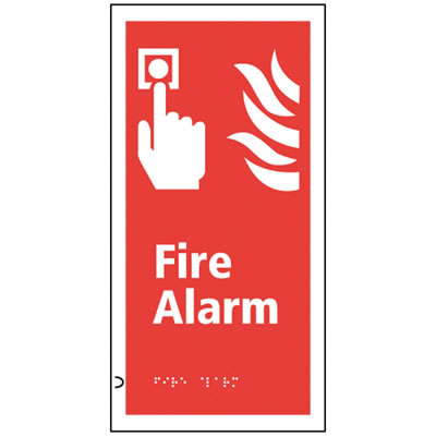 Fire Alarm Sign - Braille