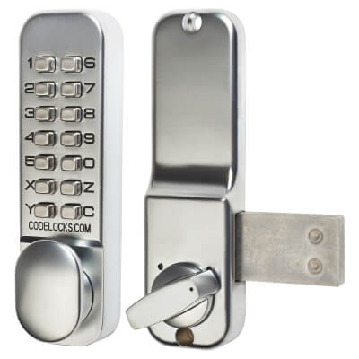 Codelocks CL100 Surface Deadbolt - Stainless Steel