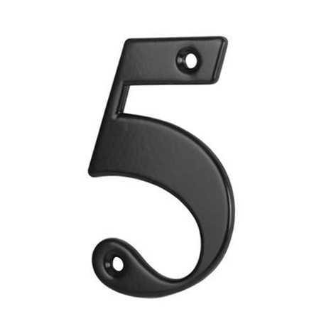 76mm Numeral - 5 - Black