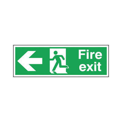 Double Sided Fire Exit - Left Arrow)