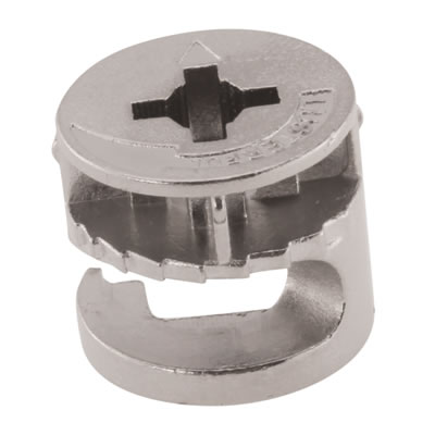 Rimless Cam Connector - Min Panel Thickness 18mm - Nickel Plated - Pack 50)