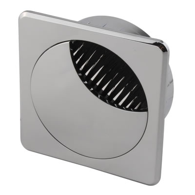 ION Mirror Effect Square Cable Tidy - 60mm - Chrome)