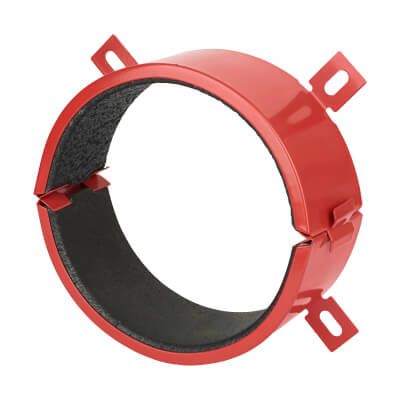 Sealmaster FireClose Intumescent Pipe Collar - 82mm - Red