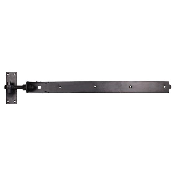 Adjustable Hook & Band on Plate - 750mm - Black Galvanised
