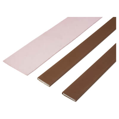 Thermaglaze 60 Intumescent Glazing Seal for Fire Doors - Brown)