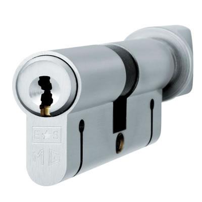 Eurospec MP15 - Euro Cylinder and Turn - 35[k] + 35mm - Satin Chrome  - Keyed Alike