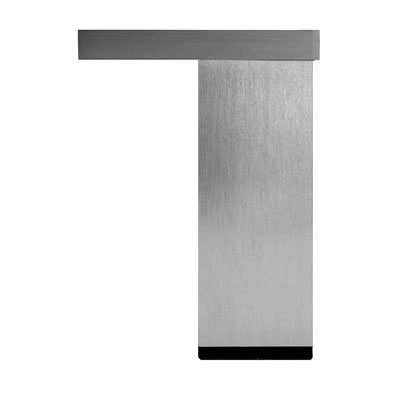 Square Furniture Leg - 110mm - Aluminium Effect