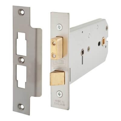 UNION® 2026 Horizontal Bathroom Lock - 149mm Case - 51 - 127mm Backset - Satin Stainless Steel