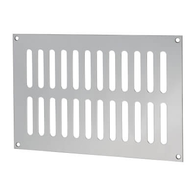 Plain Slotted Vent - 229 x 152mm - 8170mm2 Free Air Flow - Polished Stainless Steel