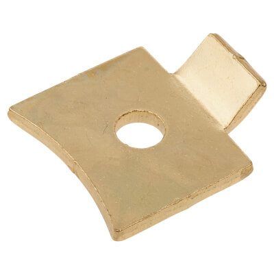 ION Standard Flat Bookcase Clip - Electro Brass Plated - Pack 10)