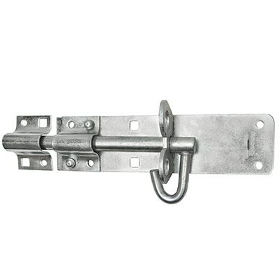 Brenton Pattern Padlock Bolt - 200mm - Zinc Plated