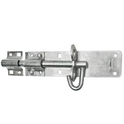 Brenton Pattern Padlock Bolt - 200mm - Zinc Plated