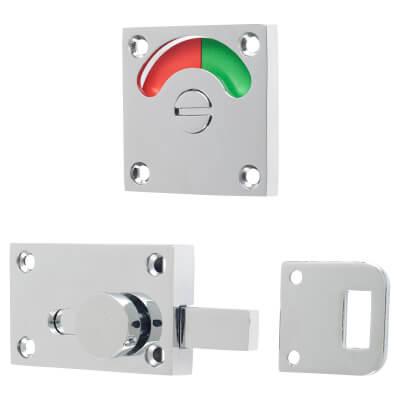 London Washroom Indicator Bolt - Polished Chrome