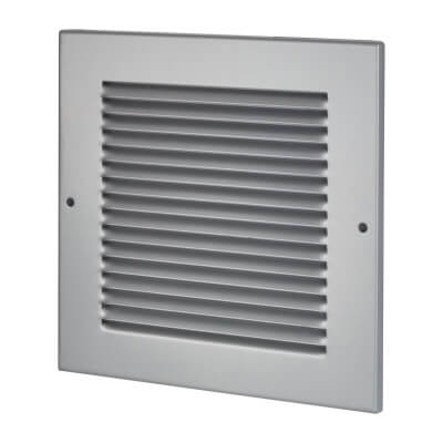Vent Cover - 200 x 200mm to suit block 150 x 150mm - Silver)