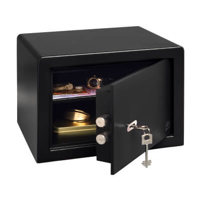 Burg Wätcher P 2 S PointSafe Key Operated Safe - 255 x 350 x 300mm - Black