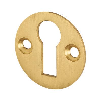 Jedo Escutcheon - Keyhole - Satin Brass
