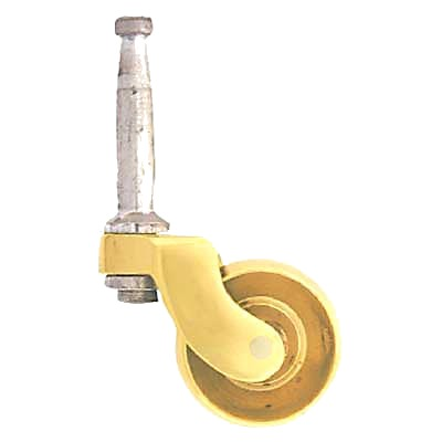 Traditional Peg Fixed Furniture Castor - Brass - Pack 2