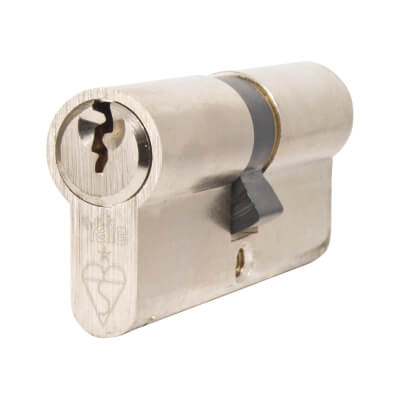 Yale® 1 Star Kitemarked Euro Double Cylinder - Keyed Alike - 35 + 35mm - Nickel Plated