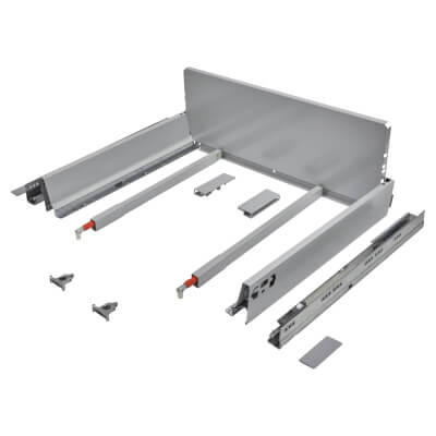 Blum TANDEMBOX ANTARO Pan Drawer - BLUMOTION Soft Close - (H) 203mm x (D) 450mm x (W) 600mm - Grey