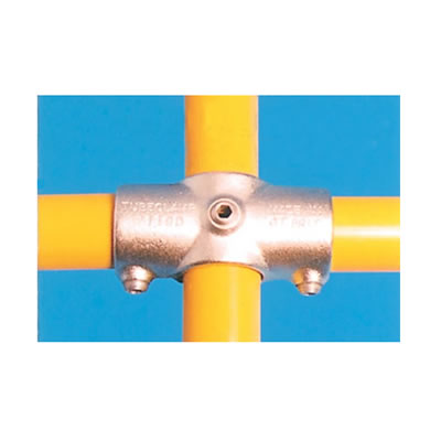 2 Socket Cross Connector with Through Centre Tube)
