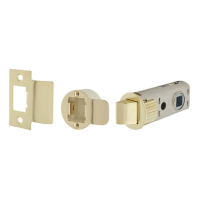 UNION JFL26 FastLatch Tubular Push-Fit Latch - 60mm Case - 44mm Backset - Polished Brass