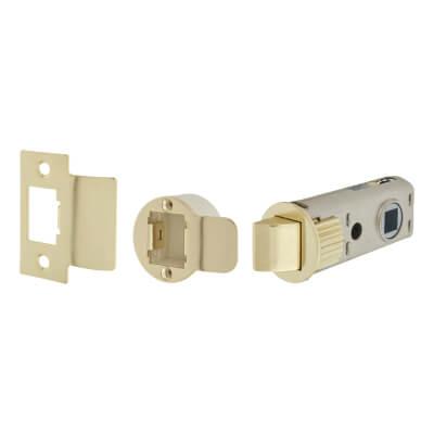 UNION JFL26 FastLatch Tubular Push-Fit Latch - 60mm Case - 44mm Backset - Polished Brass