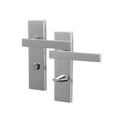 M Marcus Delta Door Handle - Bathroom Set - Polished Chrome