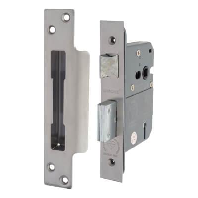 Arrone® BS3621 Sashlock - 76mm Case - 57mm Backset - Satin Chrome