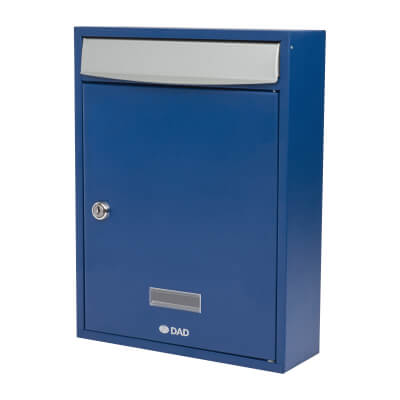 DAD Bologne Mailbox - 340 x 260 x 85mm - Blue)