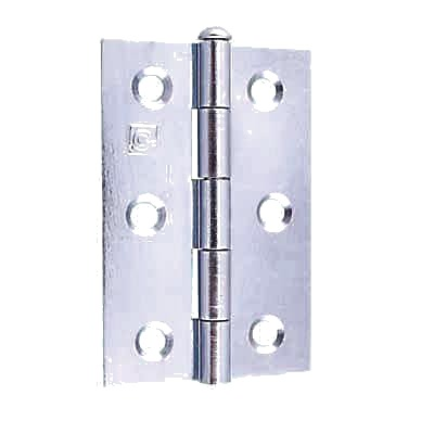 Loose Pin Steel Hinge - 75 x 50mm - Bright Zinc Plated - Pair